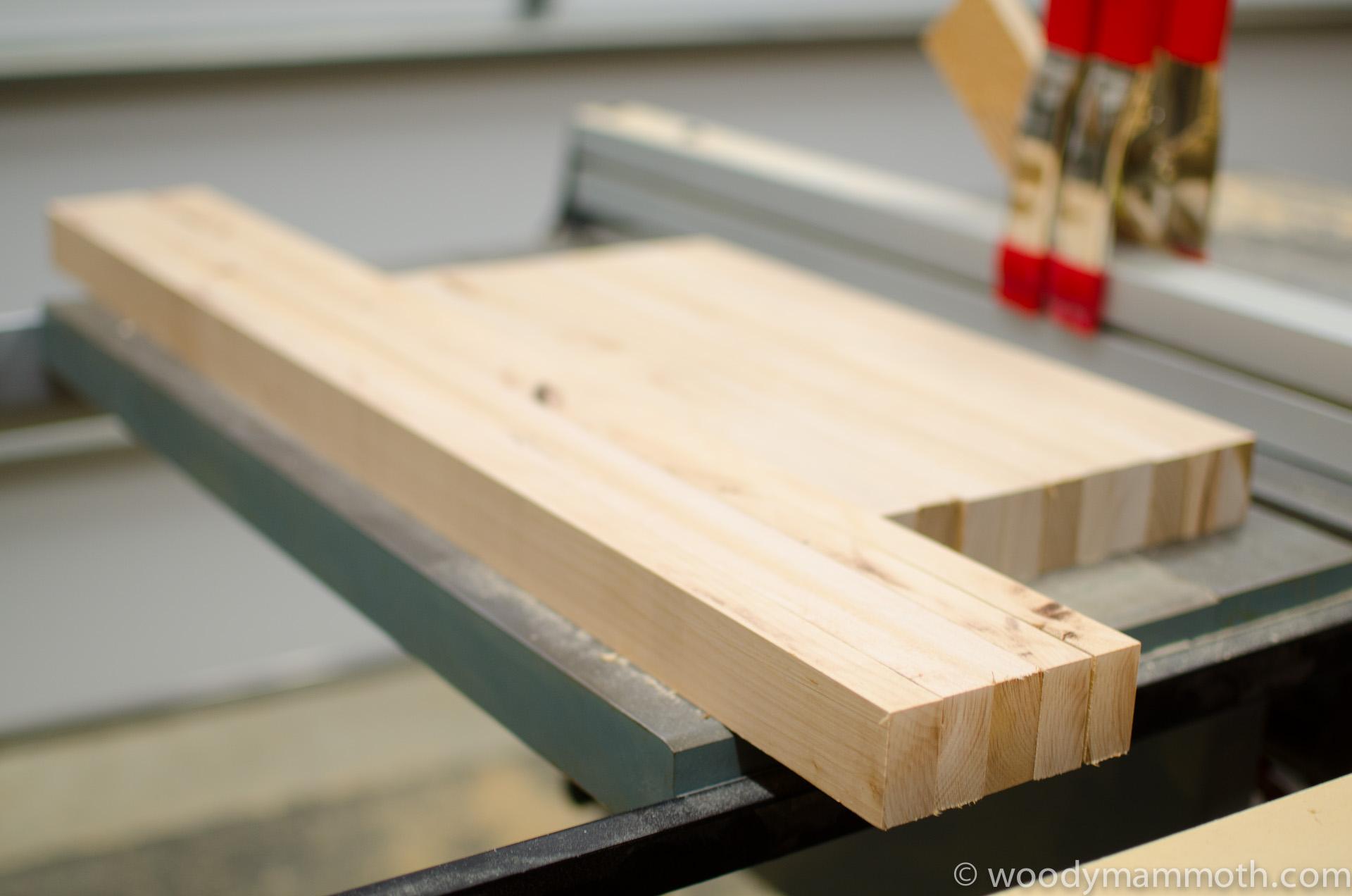 Birch slats for sides